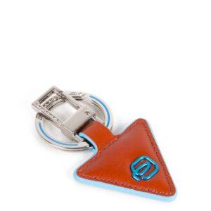 Portachiavi in pelle forma triangolare Blue SquarePC4224B2