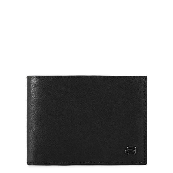 Portafoglio uomo con portamonete e protezione anti-frode RFID Black Square PU257B3R