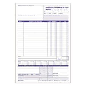 Documento Di Trasporto - Fattura / Documento Di Trasporto - Blocco - 33 Fogli buffetti