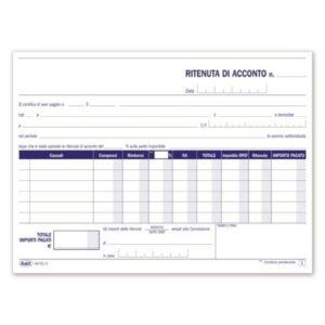 Ritenute Di Acconto - Certificati Delle Ritenute D'Acconto - Blocco - 50 Fogli buffetti