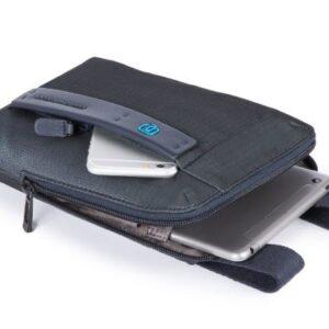 Borsello PIQUADRO con porta ipad Chevron Blu CA3084P16