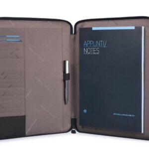 Portablocco sottile formato A4 PIQUADRO PB2830P16 CHEVRON NERO