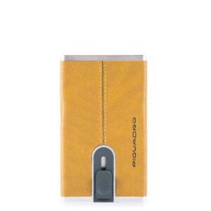 Compact wallet per banconote e carte di credito Black Square PP4891B3R
